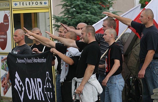 ONR fascist militias on the streets of Polish cities